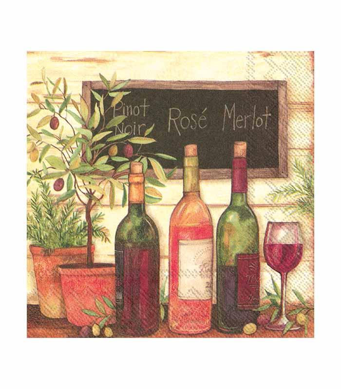 ihr Servetter Wine and Olives