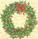 ihr Julservetter Holly Wreath Cream