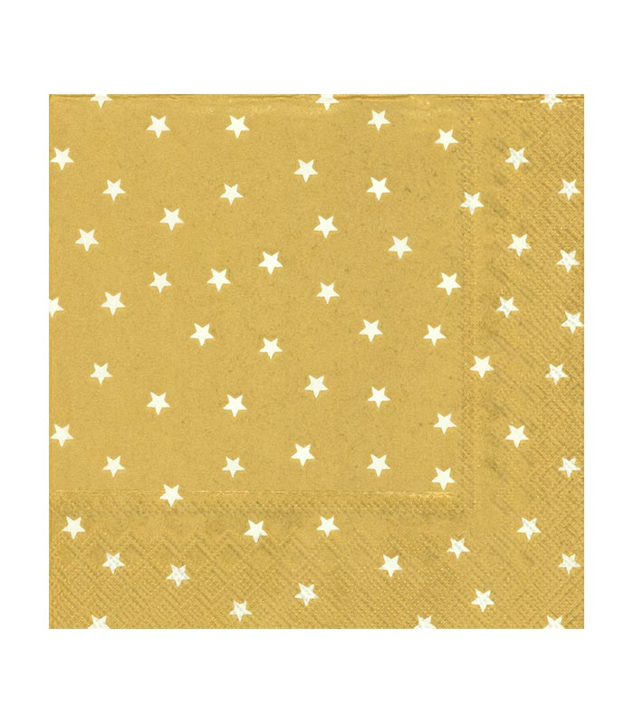 ihr Servetter Little Stars Gold White
