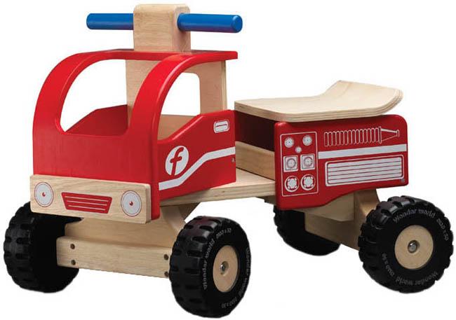 Wonderworld Brandbil - Träbil att sitta på