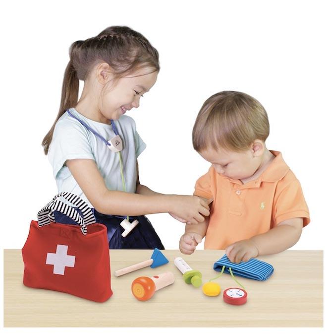 Wonderworld doktorsväska leksak till barn Trä Otto Webbshop