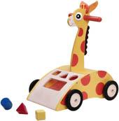 Wonderworld Lära gå vagn Giraff
