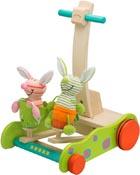 Lära gå vagn Hoppande kaniner