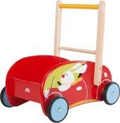 Lära gå vagn Bil med kanin