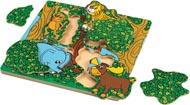 Wonderworld Träpussel Titt-ut i djungeln