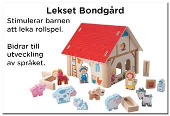Bondgård trä - Bondgård leksak till barn