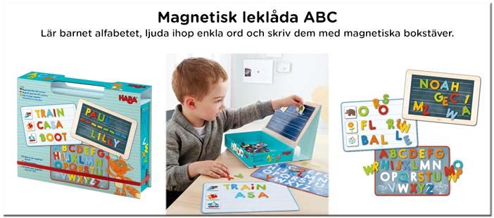 Magnetisk leklåda ABC