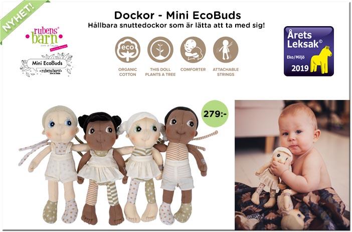 Docka Rubens Barn Ecobuds mini