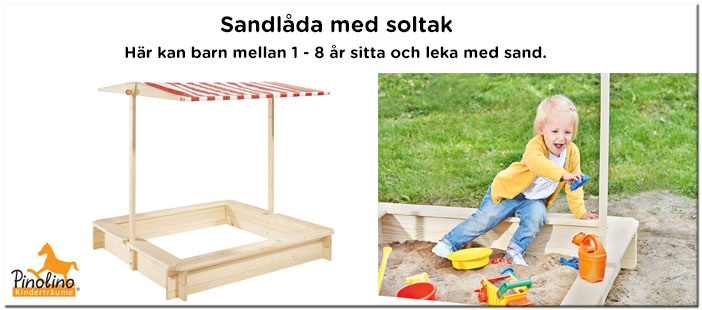 Sandlåda med soltak