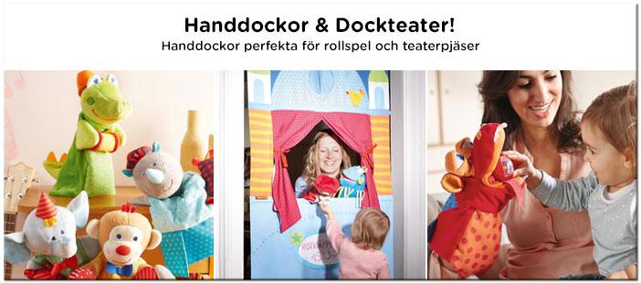 Handdocka och dockteater till barn