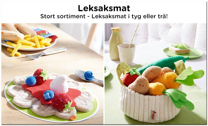 Stort sortiment av leksaksmat