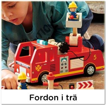 Leksaksbilar och fordon i trä, hållbara leksaker