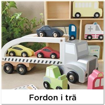 Leksaksbilar, bilar och fordon i trä till barn