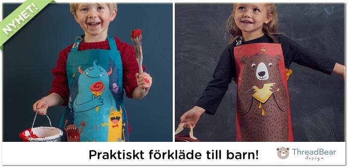 Förkläde till barn från Threadbear Design